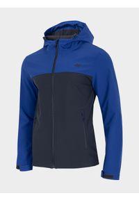 Niebieska kurtka softshell 4f z kapturem