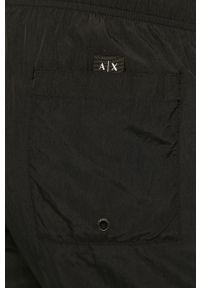 Czarne kąpielówki Armani Exchange z nadrukiem