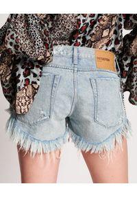 ONETEASPOON - Jeansowe szorty z łańcuchami Dukes Low Waist. Kolor: niebieski. Materiał: jeans. Wzór: aplikacja