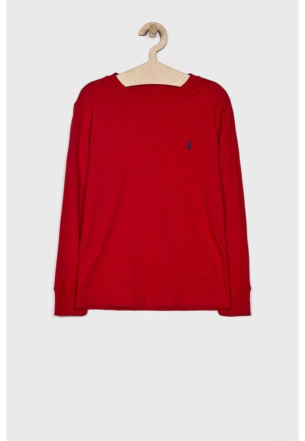 Czerwona koszulka z długim rękawem Polo Ralph Lauren polo, casualowa, na co dzień