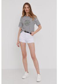 Answear Lab - Szorty jeansowe. Kolor: biały. Materiał: jeans. Styl: wakacyjny