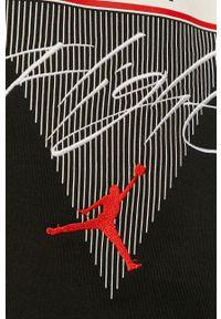 Czarna bluza Jordan z kapturem, z długim rękawem