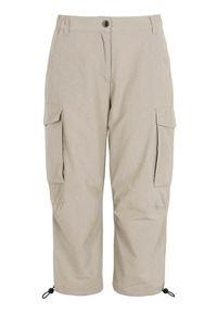 Cellbes Spodnie sportowe beżowy female beżowy 50/52. Kolor: beżowy. Materiał: tkanina, guma. Styl: sportowy