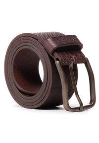 Wrangler Pasek Męski Carved W0G4U1X85 Brązowy. Kolor: brązowy
