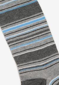 Born2be - Jasnoszare Rajstopy Zabrina. Kolor: szary. Materiał: dresówka, bawełna, jeans, materiał, elastan. Wzór: aplikacja