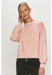 Fila - Bluza. Kolor: różowy. Wzór: nadruk