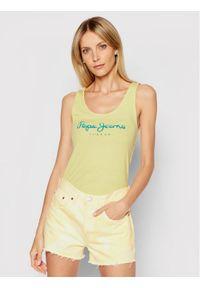 Żółty top Pepe Jeans