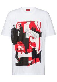 Biały t-shirt Hugo
