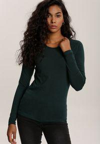 Zielona bluzka z długim rękawem Renee
