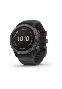 GARMIN - Zegarek do biegania z GPS Garmin Fenix 6 Pro Solar Grey. Rodzaj zegarka: smartwatch. Styl: biznesowy