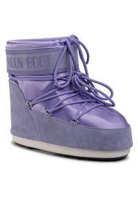 Fioletowe śniegowce Moon Boot na zimę
