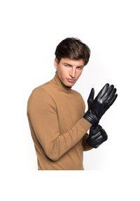 Czarne rękawiczki Wittchen na jesień, eleganckie
