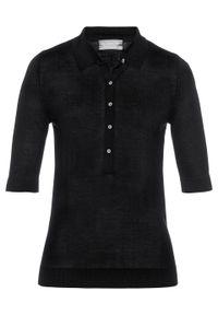 Czarny sweter bonprix polo, krótki