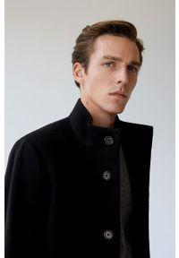 Czarny płaszcz Mango Man na co dzień, bez kaptura, casualowy