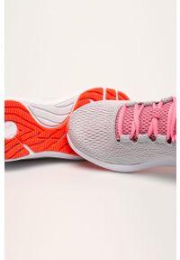 Szare buty sportowe Under Armour do biegania, z cholewką