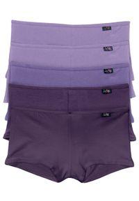 """Figi """"french"""" (5 par) bonprix ciemny lila + lila + bez. Kolor: fioletowy. Materiał: materiał. Wzór: gładki"""