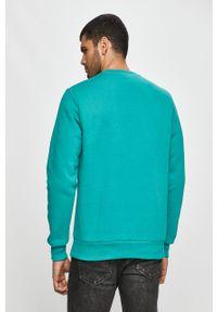Miętowa bluza nierozpinana Prosto. bez kaptura, casualowa, z aplikacjami