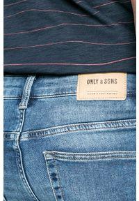 Only & Sons - Jeansy. Kolor: niebieski. Wzór: aplikacja #3