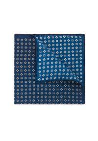 Niebieska poszetka Lancerto w geometryczne wzory