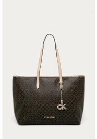 Brązowa shopperka Calvin Klein duża