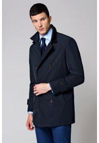 Niebieski płaszcz Lancerto elegancki, na jesień