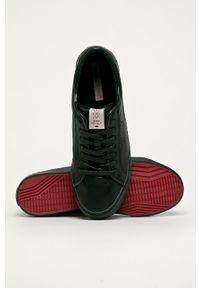 Czarne niskie trampki Cross Jeans z cholewką, na sznurówki