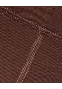 GIRLFRIEND COLLECTIVE - Brązowe leginsy Valley 7/8. Stan: podwyższony. Kolor: brązowy. Materiał: poliester, tkanina, materiał
