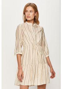 Kremowa sukienka Vero Moda mini, prosta, casualowa