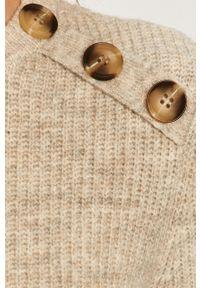 Sweter Vila na co dzień, długi, z długim rękawem