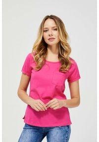 MOODO - Bawełniany t-shirt basic. Materiał: bawełna. Długość rękawa: krótki rękaw. Długość: krótkie. Wzór: gładki