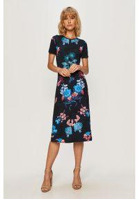 Wielokolorowa sukienka Desigual midi, na co dzień, w kwiaty