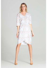 Figl - Sukienka Midi z Kopertowym Dołem - Wzór 111. Materiał: poliester. Typ sukienki: kopertowe. Długość: midi