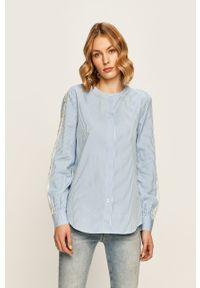 Niebieska koszula TOMMY HILFIGER długa, z długim rękawem