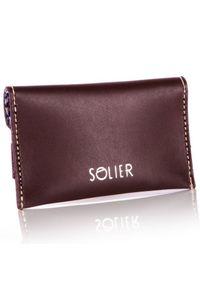 Brązowy portfel Solier #1