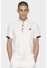 Biała koszulka polo 4f polo, na co dzień, casualowa