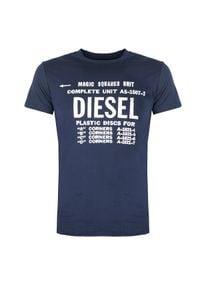 """Diesel T-shirt """"T-Diego-B6"""". Okazja: na co dzień. Materiał: bawełna. Wzór: nadruk. Styl: casual"""