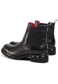 Czarne botki Karino na obcasie, na średnim obcasie #7