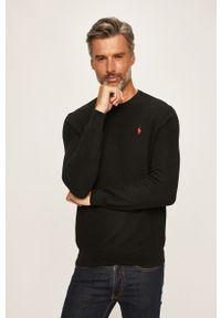 Czarny sweter Polo Ralph Lauren polo, na co dzień, casualowy