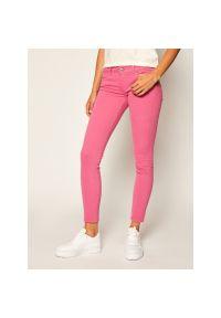 Różowe jeansy slim Pepe Jeans
