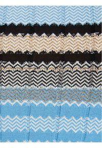 Morgan Sweter 211-MOOD Niebieski Slim Fit. Kolor: niebieski