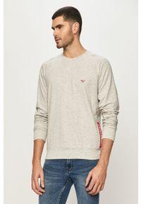 Emporio Armani Underwear - Emporio Armani - Bluza. Okazja: na co dzień. Kolor: szary. Wzór: aplikacja. Styl: casual