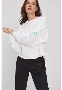 Biała bluza GAP z nadrukiem, bez kaptura