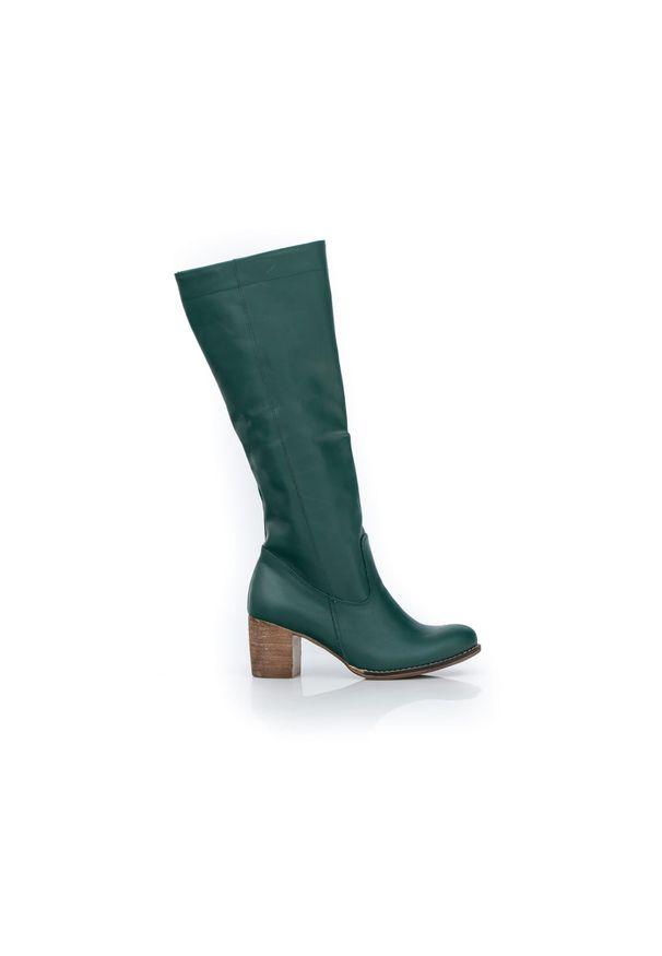 Zielony kozaki Zapato wąskie, bez zapięcia