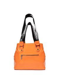 Pomarańczowa torebka klasyczna Monnari skórzana