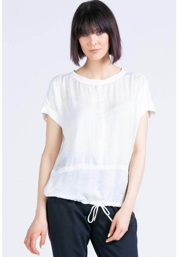 Biała bluzka Monnari krótka, z krótkim rękawem, na co dzień