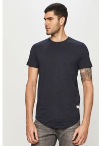 Niebieski t-shirt Jack & Jones casualowy, na co dzień