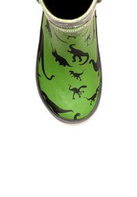 Zielone kalosze Chipmunks z cholewką