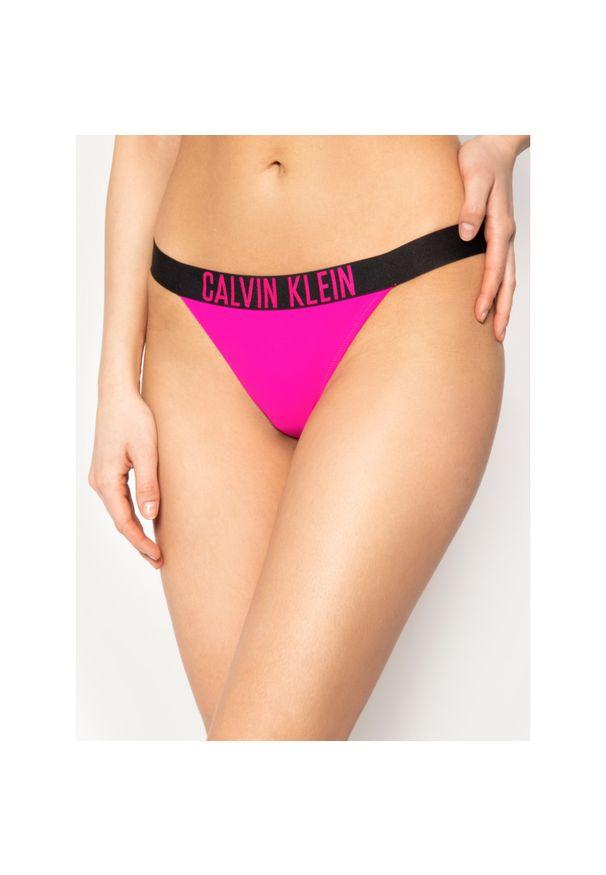Różowe dół bikini Calvin Klein Swimwear