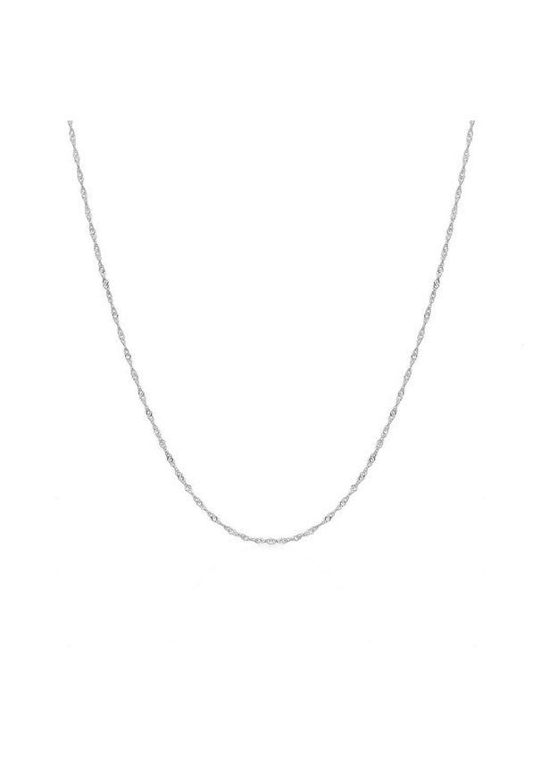 W.KRUK Unikalny Srebrny Łańcuszek - srebro 925 - WWK/L172. Materiał: srebrne. Kolor: srebrny. Materiał: ze splotem. Wzór: ze splotem