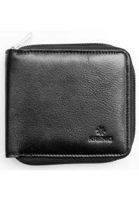 Krenig - Portfel skórzany męski KRENIG Classic 12059 czarny. Kolor: czarny. Materiał: skóra